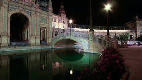 Spanien kvadrerar Plaza de Espana, Seville, Spanien royaltyfria bilder