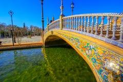 Spanien kvadrerar Plaza de Espana, Seville, Spanien royaltyfri bild