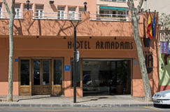 SPANIEN - 17. MÄRZ 2017: Hotel Armadams-Äußeres Stockbild