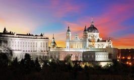 Spanien Madrid domkyrka Almudena Royaltyfri Foto