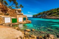 Spanien Majorca Cala Llombards stockbilder