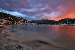 Spanien Majorca Port de Soller Royaltyfri Bild