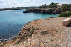 Spanien Mallorca Cala Morlanda fjärd Royaltyfri Fotografi