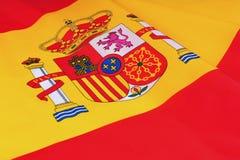 Spanien-Markierungsfahne Stockfotografie