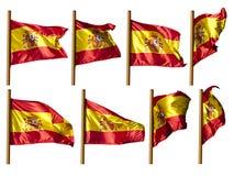 Spanien-Markierungsfahne Lizenzfreie Stockfotos