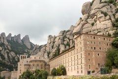 Spanien Montserrat Arkivbilder