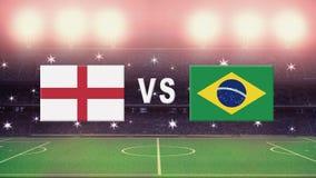 Spanien mot Argentina i en fotbolllek royaltyfri illustrationer