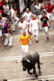 Spanien Navarra Pamplona 10 Juli 2015 S Firmino fiestafokus på pe Arkivfoto