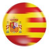 Spanien och Catalonia symbol Fotografering för Bildbyråer