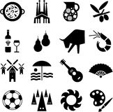 Spanien-Piktogramme Stockfotos