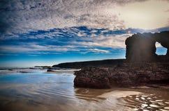 Spanien Playa de las catedrales Royaltyfria Bilder