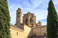 Spanien Poblet kloster, i Catalonia arkivfoto
