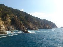 Spanien seacoast Royaltyfri Foto