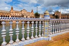 Spanien seville, spansk paviljong Arkivfoton