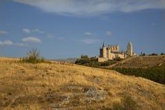 Spanien slott royaltyfria bilder