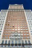 Spanien som bygger Edificio España, i Madrid, Spanien Royaltyfri Fotografi