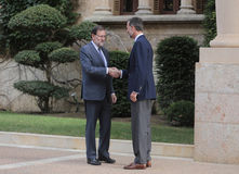 Spanien som möter 019 Arkivfoton