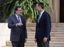 Spanien som möter 023 Arkivfoton