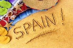 Spanien strand Arkivfoton