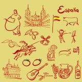 Spanien-Symbolsatz stock abbildung
