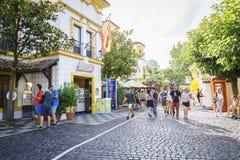Spanien themed område - Europa parkerar i rost, Tyskland Royaltyfri Foto