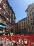 Spanien tjurparti Arkivbilder