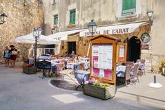 spanien Tossa de Mar Restaurant Stockfotografie