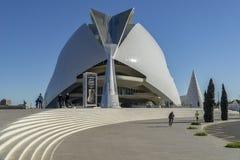 Spanien Valencia maraton staden av konster och vetenskaper arkivfoto