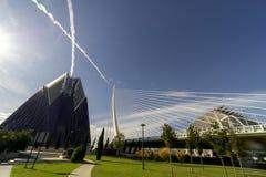 Spanien Valencia maraton staden av konster och vetenskaper arkivbild