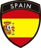 Spanien-vektoränderung am objektprogrammmarkierungsfahne Lizenzfreies Stockfoto
