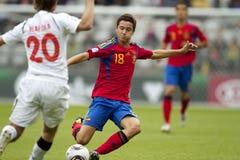 Spanien - Weißrussland (UEFA Under21) Lizenzfreies Stockfoto