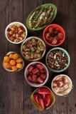 Spanis塔帕纤维布食物 库存图片
