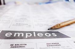 Spanisch klassifizierte Hilfe wünschte Abschnitt Lizenzfreie Stockfotografie