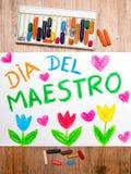 Spanisch Teacher& x27; s-Tag stockbilder