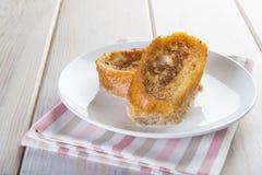 Spanisch Torrijas oder französische Toast traditionsgemäß für Ostern in SP stockbild