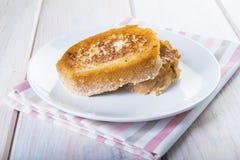 Spanisch Torrijas oder französische Toast traditionsgemäß für Ostern in SP stockbilder