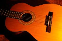 Spanische Akustikgitarre Stockfotos