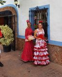 Spanische angemessene traditionelle Kostüme Lizenzfreie Stockfotos