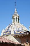 Spanische Artarchitektur der Weinlese Stockfoto