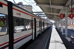 Spanische Bahnstation stockfotos
