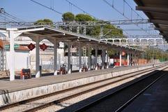 Spanische Bahnstation stockbilder