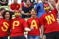 Spanische Fans lizenzfreies stockfoto