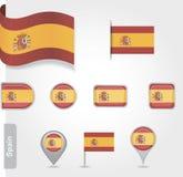 Spanische Flaggenikone Lizenzfreies Stockbild