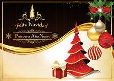 Spanische Grußkarte für Weihnachten und neues Jahr Lizenzfreies Stockfoto
