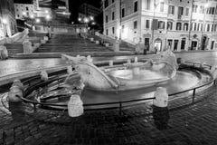 Spanische Jobstepps nachts Rom - Ita Stockfotos