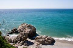 Spanische Küstenlinie stockbilder