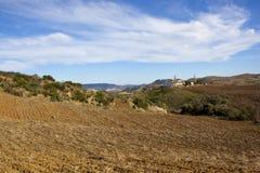 Spanische Landschaft mit Ackerland in Andalusien Lizenzfreies Stockfoto