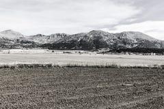 Spanische Landschaft morgens Lizenzfreies Stockfoto