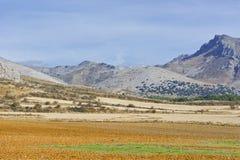 Spanische Landschaft morgens Stockfotos