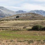Spanische Landschaft morgens Stockbild